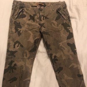 Joe's Camo cropped pants.